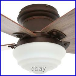 Maxwell 52 in. LED Indoor Mediterranean Bronze Ceiling Fan with Light Kit