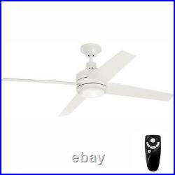 Mercer 56 in. Integrated LED Indoor White Ceiling Fan with Light Kit and Remote