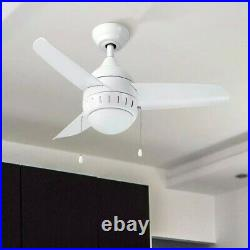 Merra 36 in. Integrated LED Indoor White Ceiling Fan with Light Kit