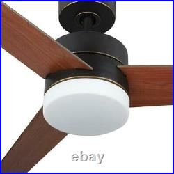 Merra 52 LED Indoor Old Bronze Ceiling Fan with Light Kit and Remote Control