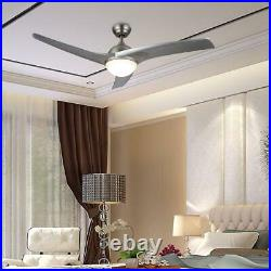 Merra 52 in. LED Indoor Brushed Nickel Ceiling Fan with Light Kit