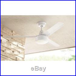 Merryn Pointe 52''Integrated LED Indoor/Outdoor White Ceiling Fan with Light Kit