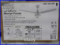 Merryn Pointe 52'' LED In/Outdoor White Ceiling Fan with Kit and Wall Control
