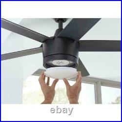 Merwry 52'' Integrated LED Indoor Matte Black Ceiling Fan /Light Kit Remote HDC