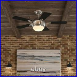 Midili 44'' LED Indoor Brushed Nickel Ceiling Fan with Light Kit by Hampton Bay