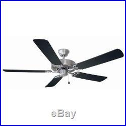 Millbridge 52 in. Satin Nickel Ceiling Fan with No Light Kit