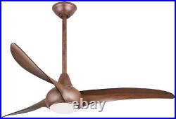 Minka-Aire F844-DK, Light Wave 52 Ceiling Fan with LED Light Kit, Distressed