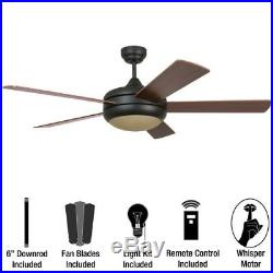 Miseno MFAN-400 Modern 52 Ceiling Fan with Light Kit Blades and Remote Contro