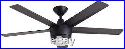 Modern 52 inch Ceiling Fan with LED Light and Remote Control Kit Indoor Black