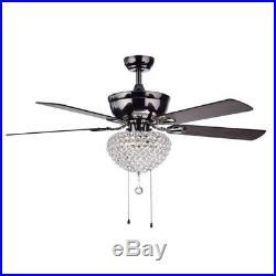 Modern Crystal Ceiling Fan Chandelier Home Lighting Kit Pendant Light Fixtures