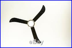 Modern ceiling fan with light kit and remote Loft Nickel / Black 112 cm 44