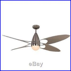 Monte Carlo 4BFR54BSD 4 Bladed 54 Indoor/Outdoor Ceiling Fan Light Kit and Re