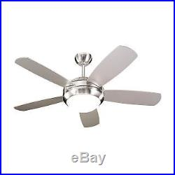 Monte Carlo 5 Blade 44 Indoor Ceiling Fan Light Kit and Blades Included