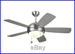 Monte Carlo 5DI44BSD Discus II 44 Ceiling Fan Light Kit, Brushed Steel