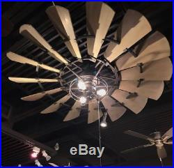 NEW 72 Quorum Windmill Ceiling Fan Bronze 97215 Farmhouse Light Kits Available