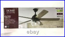 NEW! HOME DECORATORS Avonbrook 56 in. LED Bronze Ceiling Fan with Light Kit