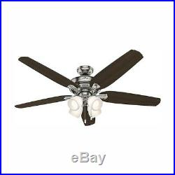 NEW HUNTER Channing 60 in. LED Indoor Brushed Nickel Ceiling Fan with Light Kit