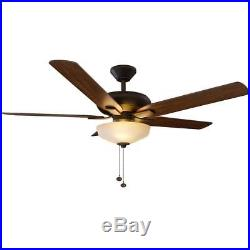 NEW Holly Springs 52 in. LED Indoor Oil-Rubbed Bronze Ceiling Fan with Light Kit