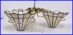 NEW MINKA K9345-22 CEILING FAN LIGHT KIT Golden TIFFANY STAINED & LEADED GLASS