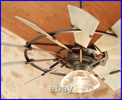 NEW Quorum 95210-86 Windmill 52 Ceiling Fan, Oiled Bronze Light Kits Available