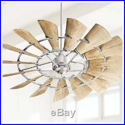 NEW Quorum Windmill Ceiling Fan 72 Light Kit Options Available 97215 Galvanized