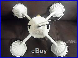 Add Light To Ceiling Fan: NEW Universal White 5 Light Ceiling Fan Kit Branch Fixture Add On Fitter,Lighting