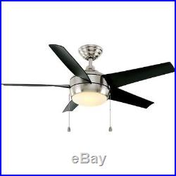 NEW Windward 44 in. Indoor Brushed Nickel Ceiling Fan with Light Kit 1001030009