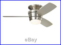 New 3 Blade 44-in Brush Nickel LED Indoor Ceiling Fan with Light Kit And Remote