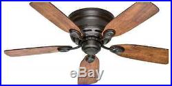 New 42 Indoor Ceiling Fan Bronze, Light Kit Compatible, Flush Mount, with Warranty