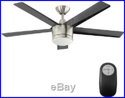 New Ceiling Fan with Light Kit Home Decorators 52 in. LED Indoor Brushed Nickel