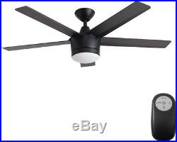 New Ceiling Fan with Light Kit Home Decorators 52 in. LED Indoor Matte Black