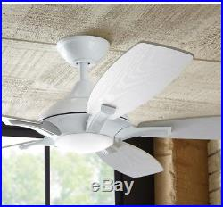 New Petersford 52 In Indoor White Ceiling Fan LED Light Kit and Remote Control