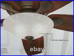 New, Regalia II 60-in New Bronze LED Indoor Ceiling Fan with Light Kit (5-Blade)