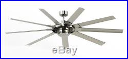 New Slinger V2 72-In Brushed Nickel Ceiling Fan LED Light Kit and amp Remote