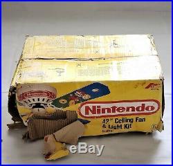 Nintendo Super Mario Bros. 42 Ceiling Fan & Light Kit Complete Never Mounted