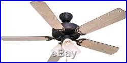 Oil Rubbed Bronze 52 Ceiling Fan with Light Kit #5943