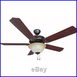 Oil Rubbed Bronze 52 Ceiling Fan with Light Kit #7394