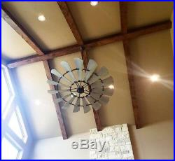 Oiled Bronze WINDMILL FAN 72 Indoor, Cage Light Kit & 72 Down Rod