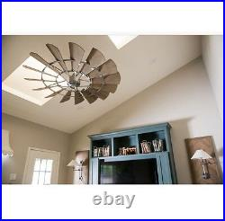 Oiled Bronze WINDMILL FAN Quorum 72 Windmill Indoor Fan And Cage Light Kit