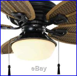 Outdoor/Indoor 48 Patio Ceiling Fan Outside Iron Light Kit Unique Palm Leaf