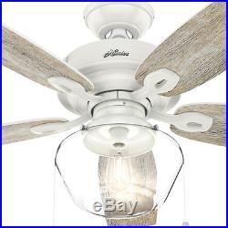 Outdoor/Indoor Damp 52 Wooden LED Ceiling Fan Unique Farmhouse Patio Light Kit