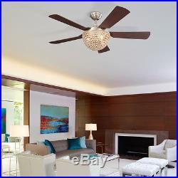 Parklake 52-in Residential Ceiling Fan, Light Kit, Remote, Brushed, Home Decor