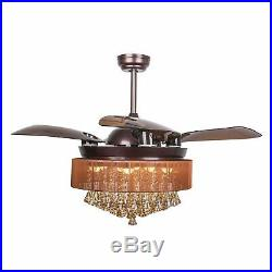 Parrot Uncle Ceiling Fan with LED Light Kit 46 Inch Remote Control Retractabl