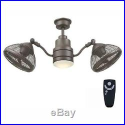 Pendersen Ceiling Fan With Light Kit And Remote Control Steel LED Dimmable