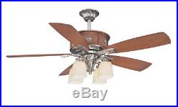 Pewter And Walnut 52 Ceiling Fan With Light Kit