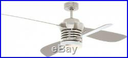 Pilot 60 in. 52 in. Indoor Brushed Nickel Ceiling Fan Light Kit Remote Control