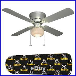 Pittsburgh Steelers Ceiling Fan withLight Kit or Blades Only or Ceiling Lamp