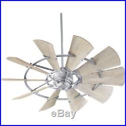Quorum 95210-9 Windmill 52 Ceiling Fan Galvanized Steel Light kits Available