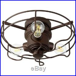 Quorum Windmill 3 Light Cage Kit, Oiled Bronze 1905-86