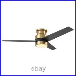 Ranger 52 In. Led Indoor Gold Smart Ceiling Fan With Light Kit And Wall Control